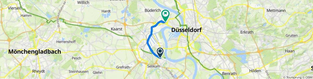 Dunantstraße 40, Neuss to Viersener Straße 38, Düsseldorf
