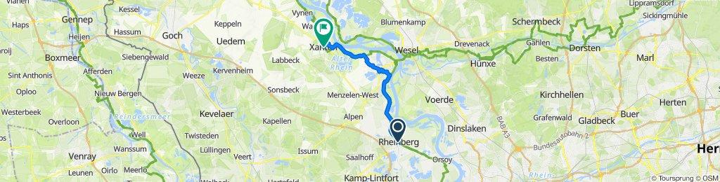 Rheinberg nach Xanten