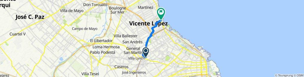 Ruta tranquila en Vicente López