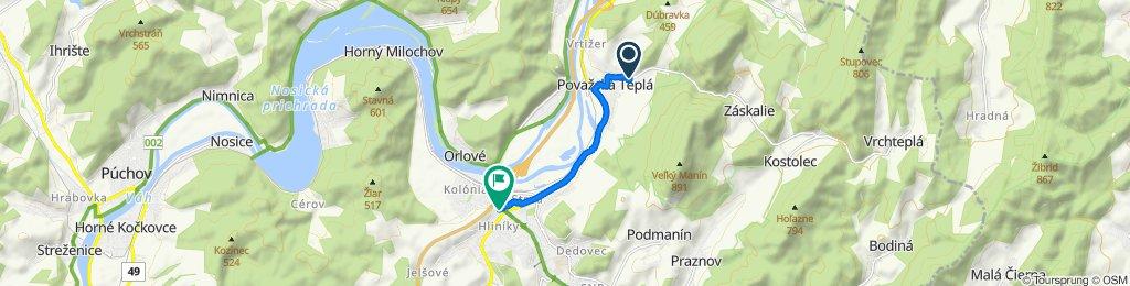 Restful route in Považská Bystrica