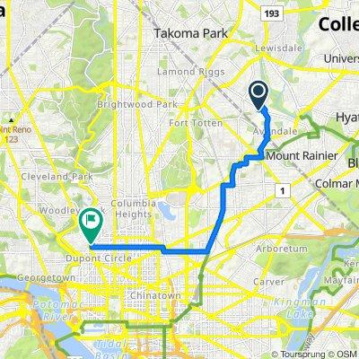 5443 16th Ave, Hyattsville to 1927 Florida Ave NW, Washington