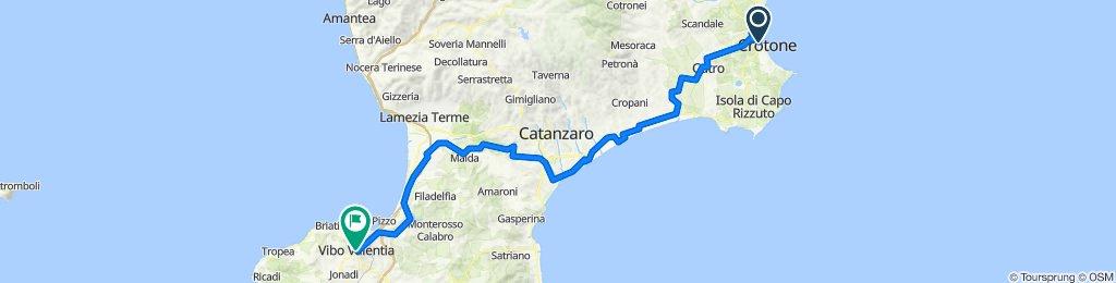 Crotone à Vibo Valentia, Itália