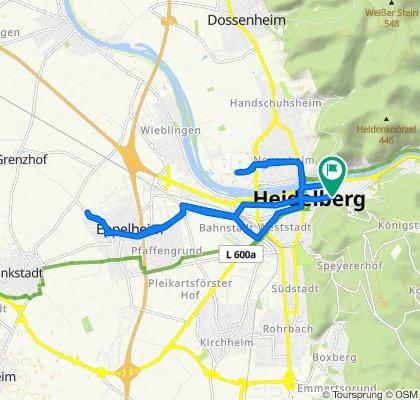Entspannende Route in Heidelberg
