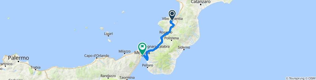 Dia 17.1: Vibo Valentia à Messina, Itália