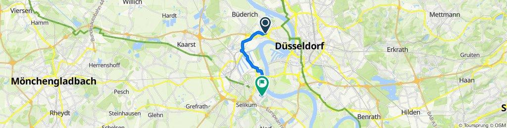 Viersener Straße 38, Düsseldorf to Magnolienweg 5, Neuss