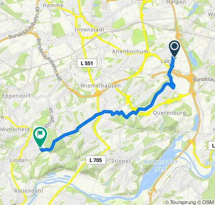 Kolonie Vollmond 87, Bochum to Am Schamberge 56, Bochum