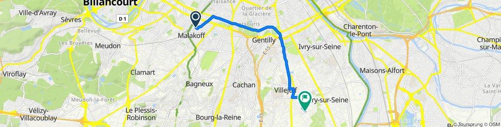 24 Rue Béranger, Malakoff to 35 Impasse André Kommer, Vitry-sur-Seine