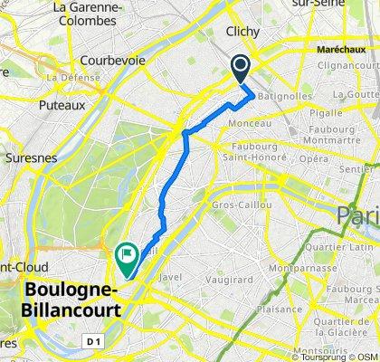 Itinéraire modéré en Paris
