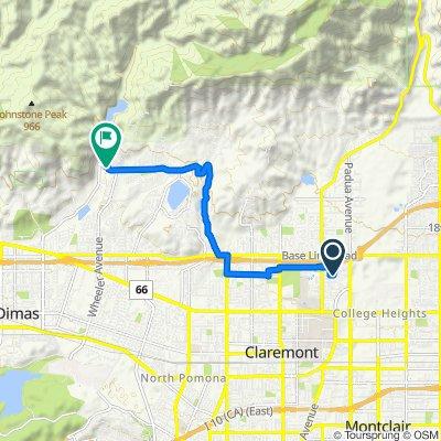 666 Clarion Pl, Claremont to 1097–1655 Golden Hills Rd, La Verne