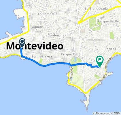Rota moderada em Montevidéu