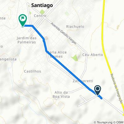 Avenida Alceu Duarte de Carvalho, 1743, Santiago to Rua João Oliveira, 70, Santiago