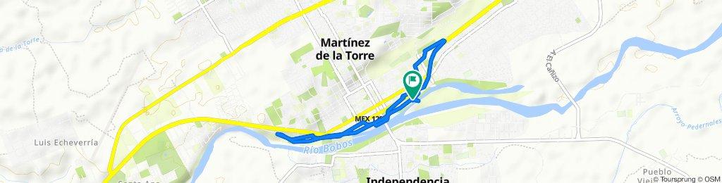 Paseo rápido en Martínez de la Torre