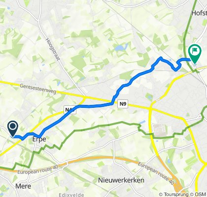 Kraaineststraat 43, Erpe-Mere to Dendermondsesteenweg 143, Aalst