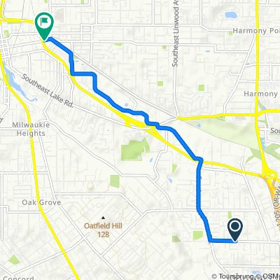 7708 SE Clackamas Rd, Portland to 3030 SE Monroe St, Milwaukie