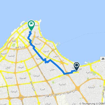 Abdullah Al-Fadhala Street Lane 3, Salmiya to Shuhada'a Street, Kuwait City