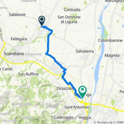 Giro a velocità costante in Veggia-Villalunga
