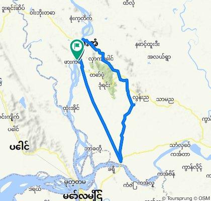 Moderate route in Myanmar (Burma)