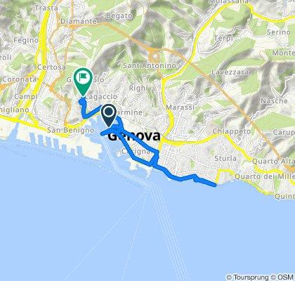 Isola delle Chiatte Luciano Berio,  to Via Ferrara 10, Genova