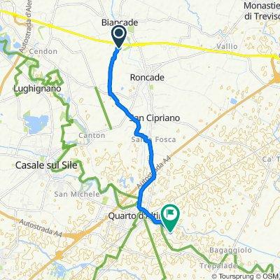 Via Buel del Lovo, Silea to Via Principe 101, Madonna della Salute