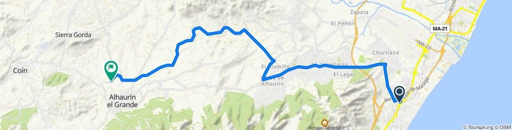 Ruta rápida en Alhaurín el Grande