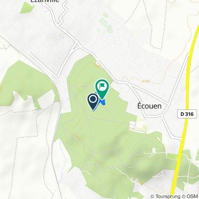 Route du Mail, Ecouen to Route du Mail, Ecouen