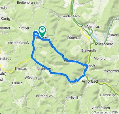 Vielbrunn - Boxbrunn - Weilbach - Ohrnbachtal - Wp. 10/15