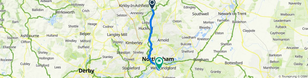 6 Byron Crescent, Nottingham to 2–6 Castle View, Nottingham