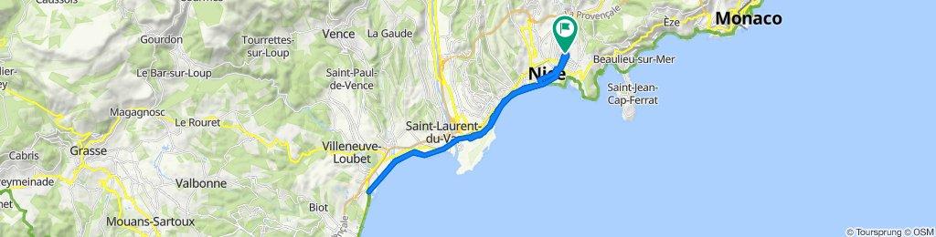 Itinéraire confortable en Nice