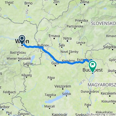 Vienna to Budapest - Danube cycle path