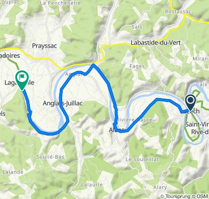 Itinéraire facile en Lagardelle