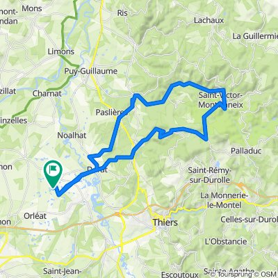 Itinéraire modéré en Orléat