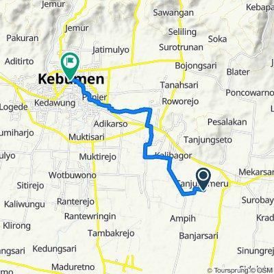 Relaxed route in Kecamatan Kebumen
