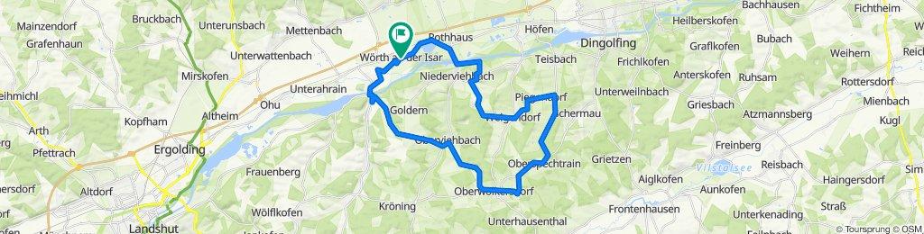 Wörth-alt_Niederaichbach-Thalham-Oberviehbach-Oberwolkersdorf-Buchet-Oberspechtrain-Obertaisbach-Weigendorf-Süßbach-Schreg-Gummering-Niederviehbach-Wörth