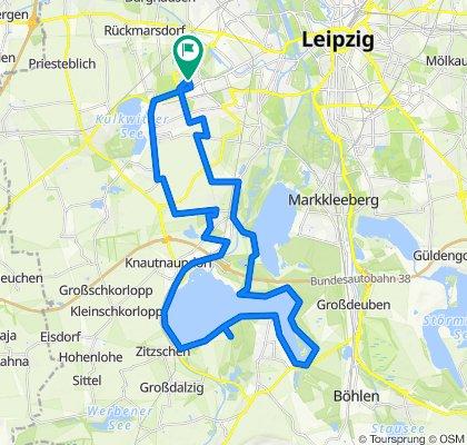 Leipzig(Schönau) um den Zwenkauer See und zurück