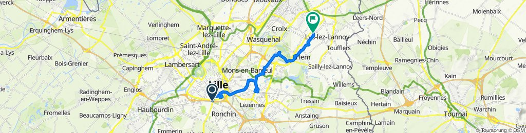 Rue d'Arras, Lille to Rue Jules Michelet, Roubaix