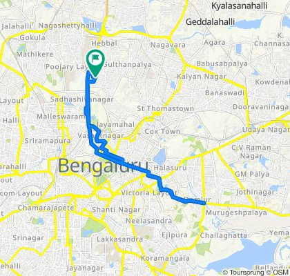 Moderate route in Bengaluru