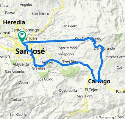 Ruta constante en San José