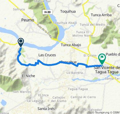 San Vicente - San José de Marchihue - Los Maitenes - Cruce Ruta 90 (Marchihue), San Vicente to Michimalongo 195–315, San Vicente