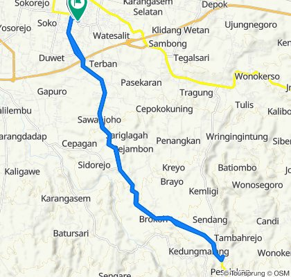 Sporty route in Kecamatan Batang