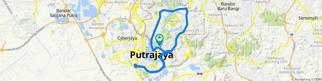 27, Persiaran Perdana Presint 4, Putrajaya to Persiaran Perdana, Putrajaya