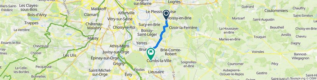 Itinéraire reposant en Pontault-Combault