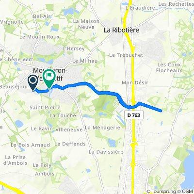 3 Rue du Levant, Mouilleron-le-Captif to Rue de la Rose des Vents, Mouilleron-le-Captif