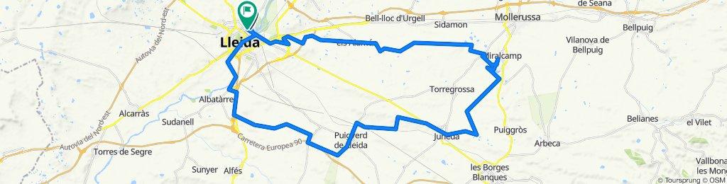 Lleida/juneda/Puig-Gros/Miralcamp/Lleida