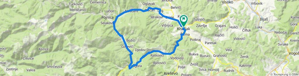 Kiseljak-Fojnica-Bakovići-Dusina-Crnički Kamenik-Tomići-Kiseljak