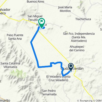 Ruta deportiva en Aljojuca