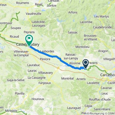canal du midi villesequelande-castelnaudary 26 km