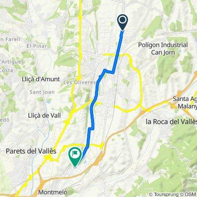 Carretera de Ribes, Les Franqueses del Vallès to Calle de la Verneda del Congost, Montmeló