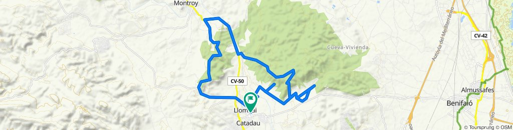 Ruta circular cruzando Els Cerros a cara sur de El Teyo