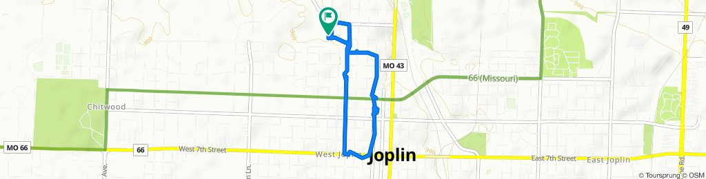 Rode around the neighborhood and a little downtown Joplin.