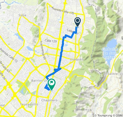 Ruta moderada en Bogotá
